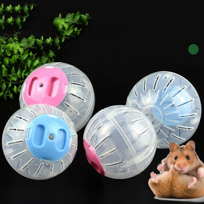 Transparent Plastic Pet Hamster Fun Running Game Ball Grounder Mouse Playing Toy