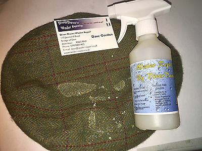 1x250ml Repel by Diver Dave Water repellant spray, waders, horse blankets fabric