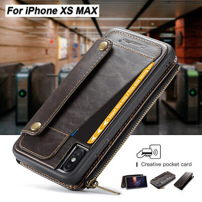 Case For iPhone XS MAX 8 Plus Flip Card Holder Wallet Leather Stand Phone Cover