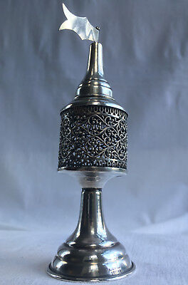 Antique Vintage Judaica Sterling Silver Spice Tower