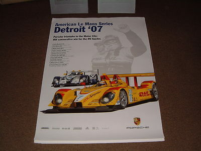 Porsche Factory Issued Showroom Poster Of The Detroit '07 Le Mans  (No.25)
