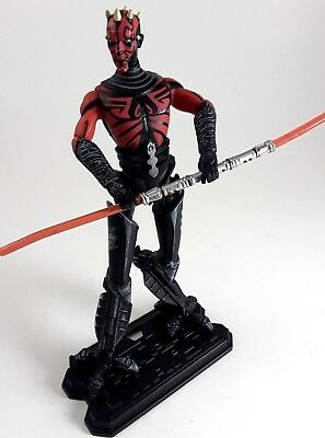 Star Wars Action Figure Clone Wars Darth Maul Cyborg Legs Stand/Lightsaber 2011