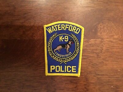 Waterford Connecticut Police K9 hat patch