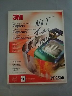 "3M Transparency Film 8.5"" X 11"" PP 2500  open box with 95 sheets left"