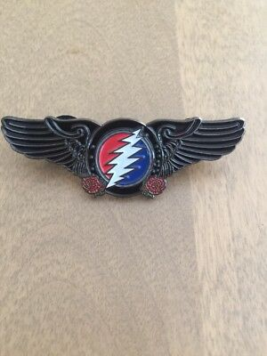 Grateful Dead Bolt Roses And Wings Pin