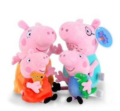 Peppa Pig Family Bundle Plush Soft Toy Teddy - Mummy Pig Daddy Pig Peppa George