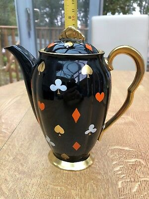 Carlton Ware Coffee Pot  with playing card suit design