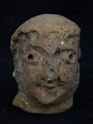 Ancient Teracotta Head Bactrian C.300 BC #TR608