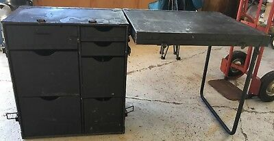 Military Field Desk Wooden Army Surplus United States