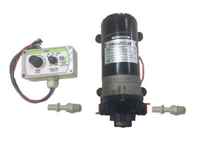 Water Fed Pole 80 Psi diaphragm Pump & Analogue Flow Controller Package