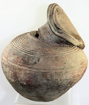 Ancient Thai Sawankhalok mis-fired pottery vase, ex. Robert McPherson