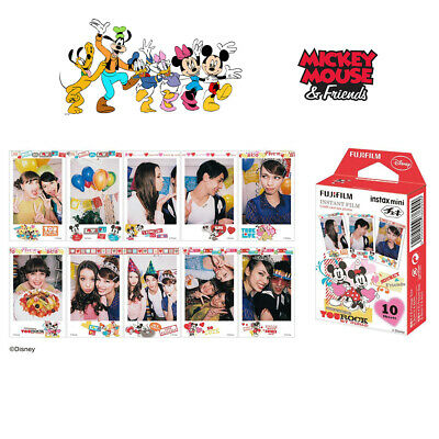 Fujifilm Instax Mini Disney Mickey Fuji Instant 7s 8 9 50 70 90 Camera 10 Sheets