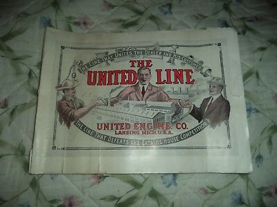 1915 United Engine Co. Catalog Lansing Mich. Hit & Miss Antique Vintage
