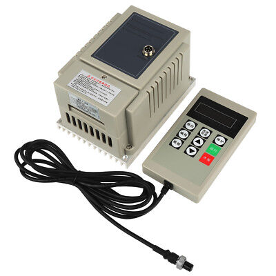220V 0.75KW 4A Single-Phase VFD Variable Speed Motor Drive Frequency Inverter UK