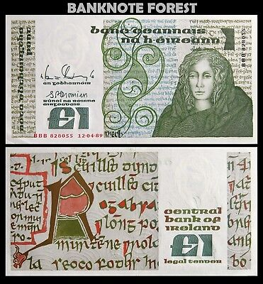Ireland | £1 Pound | Replacement | 1989 | P.70r | BBB 828055 | UNC-