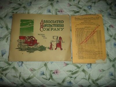1915 Associated Manufacturers Co.Catalog Waterloo IA Hit & Miss Antique Vintage
