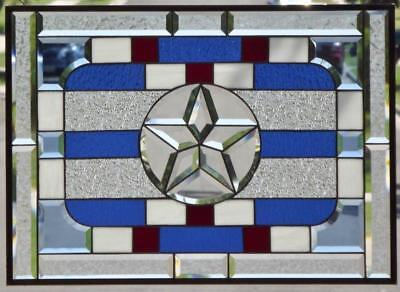 •Patriot •Beveled Stained Glass Window Panel•