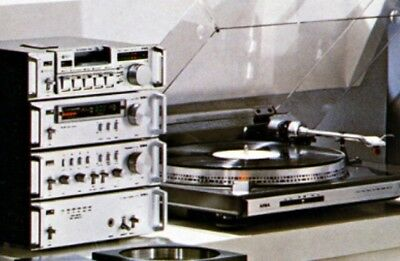 Aiwa Vintage Hifi With Speakers And Record Player