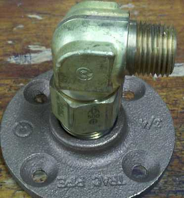 """Trac-Pipe AutoFlare FGP-ELLB 500 1/2"""" Male Elbow Brass Flange Fitting"""