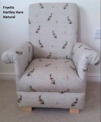 Kids Armchair Natural Chair Fryetts Hartley Hare Fabric Children's Chair Animals