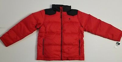 NWT Polo Ralph Lauren BOYS DOWN PUFFER COAT JACKET RED #60