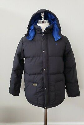 NWT Polo Ralph Lauren  BOYS DOWN HOODED JACKET PUFFER COAT L14-16 /18-20 XL  #60