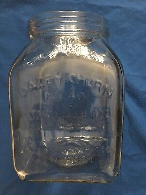 DAZEY CHURN No 40 Butter Glass Jar, Patented Feb 1922, Jar Only - Great Cond.