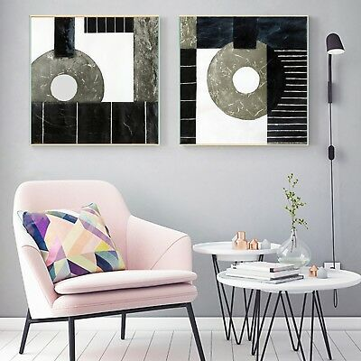 Abstract Art Geometric Canvas Poster Fabric Oil Paint Wall Decor No Frame S248
