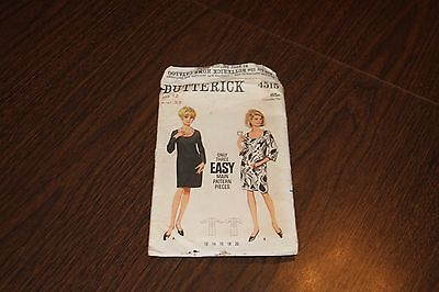 Vintage Butterick Misses Dress Patterns Sewing Pattern Sz 12 4515 AS IS '70s
