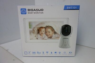 """BIGASUO Video Baby Monitor with Camera 7"""" Large LCD Screen"""