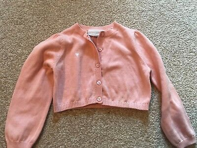 Little white company baby girl pale pink cardigan 12-18 months