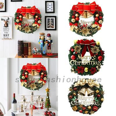Christmas Wreath Decor Xmas Party Door Wall Hanging Garland Tree Ornament 30cm