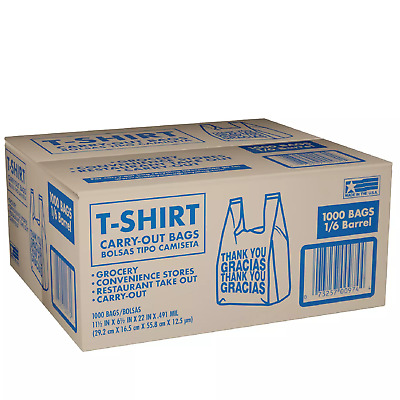 Member's Mark T-Shirt Carry-Out Bags 1,000 ct.