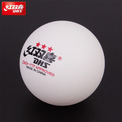 Wholesale DHS D40+ 3Star Table Tennis Plastic Balls White Orange PingPong Balls