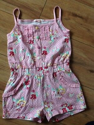BLUE ZOO Girls Pink Floral Playsuit Age 3-4 Years