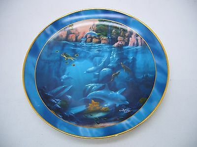 """Royal Doulton Where Dolphins Dance Collector plate 8"""" Conservation International"""