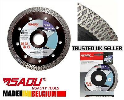 Thin 115mm 4.5''Turbo Diamond Cutting Disc Tile Saw Disc Angle Grinder BladeCER