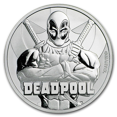 "2018 Tuvalu 1 oz Silver $1 Marvel Series ""Deadpool"" BU - SKU#173287"