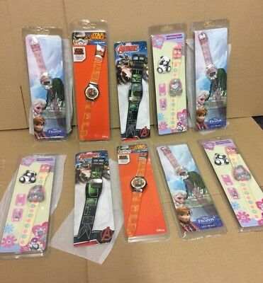 job lot wholesale 10 watches Zeon Disney - marvel Watch clearance stock all new
