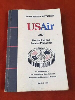 USAir, US Air, US Airways Machinists Work Agreement 1990
