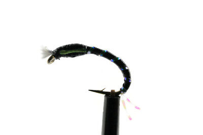 OKEY DOKEY Buzzers Gold Holographic Ribbed trout Flies  Choice Qty Size Colour