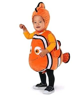 Disney Store Baby 2pack Nemo Plush Halloween Complete Costume Outfit  Size...