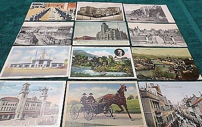 12 Antique old Postcards, US Naval Cuba Amish Gibraltar Steyr Hotel Tramoniano 4