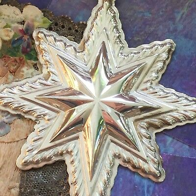Vintage Sterling Silver Lunt  1998 Happy Holidays Star Ornament