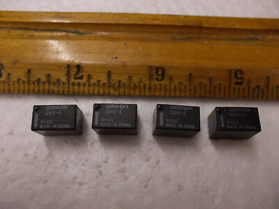 Omron G5V-1 Relay, 5VDC coil, .5A/125VAC 1A/30VDC, lot of 4