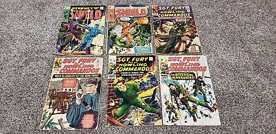 Nick Fury Comic Book Lot of 6 from 1960s 2ND APPEARANCE Hate-Monger