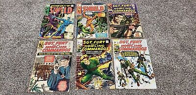 Nick Fury Comic Lot of 6 ~ 2ND APPEARANCE Hate-Monger ~ Late 1960s 12 Cent Book