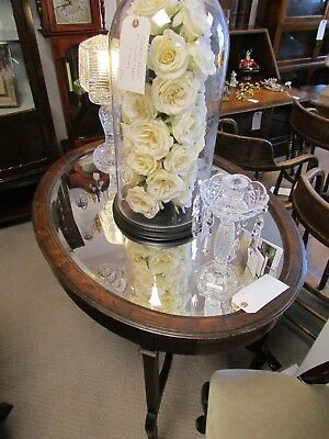Antique Mirrored Top Occasional Table