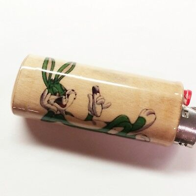 Green Bugs Bunny Joint Lighter Case Holder Sleeve Cover Fits Bic Lighters