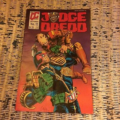 Quality Comics Judge Dredd issue 12 1987 2000 AD Carlos Ezquerra Judge Dekker